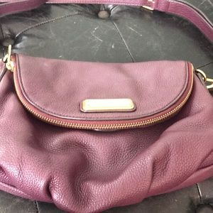 Marc by Marc Jacobs plum leather Crossbody